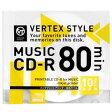 VERTEX CD-R(Audio) 80分 10P インクジェットプリンタ対応(ホワイト) 10CDRA.80VX.WP