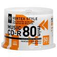 VERTEX CD-R(Audio) 80分 50P スピンドル インクジェットプリンタ対応(ホワイト) 50CDRA.80VX.WPSP