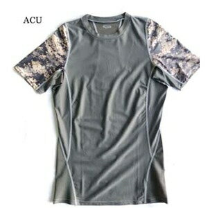 その他 スリムフィットコンプレッションアメリカ軍タクティカルトレーニング吸汗速乾シャツ半袖レプリカ ACU L ds-1927406