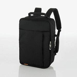 エレコム エレコム バックパック ビジネスバッグ 3WAY(リュック/ショルダー/手提げ) 撥水 軽量 斜めがけOK メンズ/レディース 収納サイズ(A4 13.5/14/15/15.4/15.6インチ MacBook Pro 15) ブラック(黒) BM-SN03BK BM-SN03BK【納期目安:12/14入荷予定】