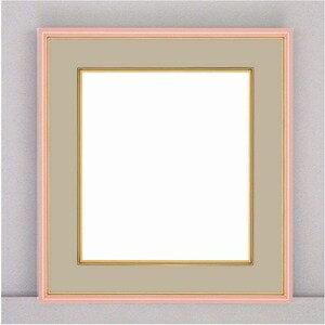 その他 【カラー色紙額】細い色紙額・細いフレームの色紙額 ■カラー色紙額273×242mm ピンク ds-2037588