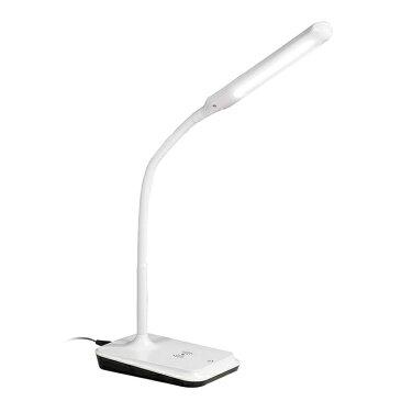 オーム電機 【ワイヤレス充電機能付き】LEDデスクライト(500Lm/ホワイト) DS-LD53AQ-W