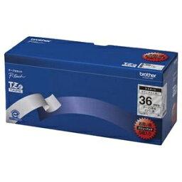 その他 (まとめ)ブラザー BROTHER ピータッチ TZeテープ ラミネートテープ 36mm 透明/黒文字 業務用パック TZE-161V 1パック(5個)【×3セット】 ds-2218500