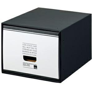 その他 (まとめ) ライオン事務器 ストックケース A4用小 ブラックタイプ SC-41S 1個 【×5セット】 ds-2221271