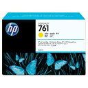 その他 (まとめ) HP761 インクカートリッジ イエロー 400ml 染料系 CM992A 1個 【×10セット】 ds-2230598 1