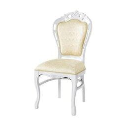その他 ダイニングチェア/食卓椅子 【ホワイト 幅47×奥行61cm】 木製脚付き ポリエステル 〔リビング〕【代引不可】 ds-2333687