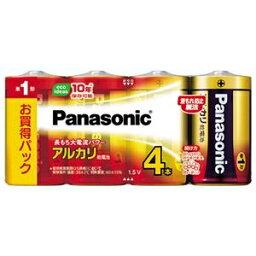 その他 (まとめ)パナソニック アルカリ乾電池 単1形 LR20XJ/4SW 1パック(4本) 【×5セット】 ds-2360346