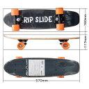 その他 RIP SLIDE コンプリート ウッドミニスケートボード 22インチ オレンジウィル <完成品> (橙ウィル) RipSlide20073ORG