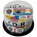 【6個セット】 HI DISC CD-R 700MB 50枚スピンドル 音楽用 32倍速対応 白ワイドプリンタブル HDCR80GMP50X6 ds-2377158