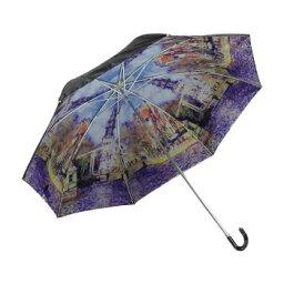 ユーパワー 名画折りたたみ傘(晴雨兼用) モネ「水辺の教会」 AU-02511 CMLF-1566118【納期目安:1週間】