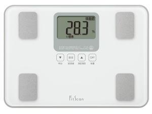 TANITA 体組成計付体重計 フィットスキャン ホワイト FS-100-WH【お取り寄せ】