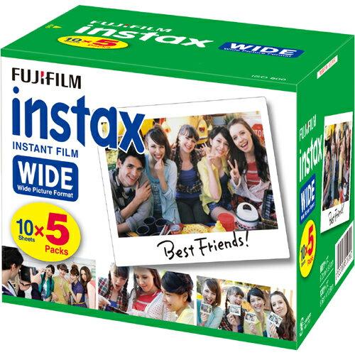 FUJIFILM インスタックスワイドフィルム 600枚(5Px12) 【送料無料】富士インスタントカラーフィルム instax WIDE 600枚