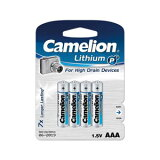 【パッケージなしケース付】【ポスト投函便専用商品】Camelion カメリオン 単4形リチウム電池 4本パック FR03-BP4
