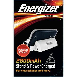 JTT 日本トラストテクノロジー モバイルバッテリー Energizer Power Stand PS2800 ホワイト PS2800WH