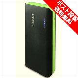 【ポスト投函・代引き不可】ADATA モバイルバッテリー 10000mAh ブラック/グリーン APT100-10000M-5V-CBKGR