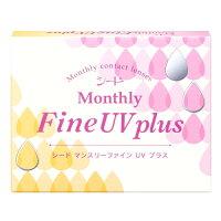 【4箱セット】【ネコポス発送・送料無料】マンスリーファインUV1ヶ月使い捨て3枚入4箱セット(MonthlyFineUV)