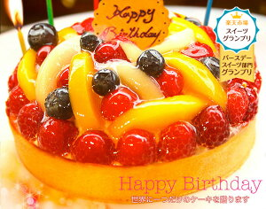 スイーツGP【グランプリ受賞】特製バースデーケーキ 14cm 誕生日ケーキ チーズケーキ フル…