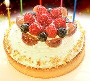 ホワイトバースデーケーキ プレート キャンドル バースデー スイーツ