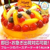 スイーツGP【グランプリ受賞】即日出荷可特製フルーツのバースデーケーキ 14cm 誕生日ケーキ お取り寄せ【楽ギフ_包装】【楽ギフ_のし】