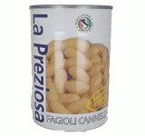 ラ プレッツィオーザ 白インゲン豆水煮缶 400g