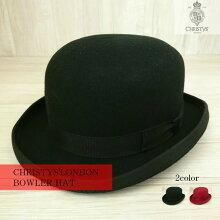 クリスティーズロンドンボーラーハットメンズレディースユニセックスCHRISTYS'LONDONウールフェルトハット山高帽子[カラー]ブラック