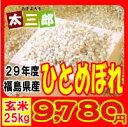 【新米】平成29年度 福島県産 ひとめぼれ 玄米25kg又は白米22.5kg 【送料無料】