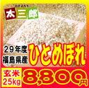平成29年度 福島県産 ひとめぼれ 玄米25kg又は白米22...
