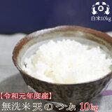≪新米入荷≫【無洗米】令和元年度福島県産天のつぶ10kg(5kg×2袋)送料無料