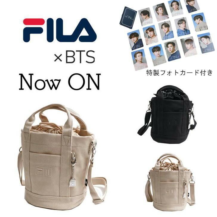 男女兼用バッグ, ショルダーバッグ・メッセンジャーバッグ BTS FILABTS 2021SS NOW ON BUCKET BAG 2way