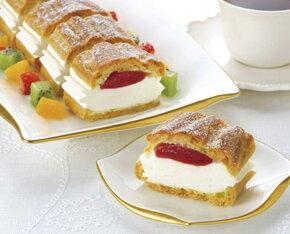 [冷凍]味の素)フリーカットケーキシュークリーム(イチゴ)335g 味の素冷凍食品 カスタード...