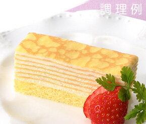 フリーカットケーキミルクレープ480g箱 味の素 冷凍食品ケーキ 洋菓子 【冷凍食品】【業務用食材】【8640円以上で送料無料】