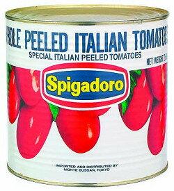 [常温]スピガドーロトマトホール1号缶 モンテ肉厚で酸味の少ないイタリア産の完熟トマトを湯剥...