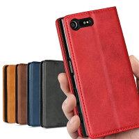 XperiaXCompactSO-02Jケースカバー財布case高質合成皮革内蔵マグレット携帯カバーカードポケットカード入れスタンド機能シンプル落ち着いた色