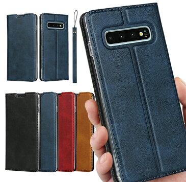 SAMSUNG Feel2:SC-02L // S10:SC-03L SCV41 // S10 plus:SC-04L SC-05L SCV42 財布 高質合成皮革 内蔵マグネット 携帯カバー カード入れ スタンド機能 シンプル落ち着いた色 高品質 ストラップホール付き ストラップ同梱