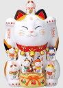 招き猫 錦彩七福神招き猫 8.5号 25.5cm開運 まねき...