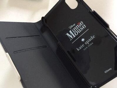 0138c4077c33 ... iPhoneX/XsケイトスペードミニーkatespadeアイフォンXXSケース手帳型ミニーマウスアップリケフォリオ