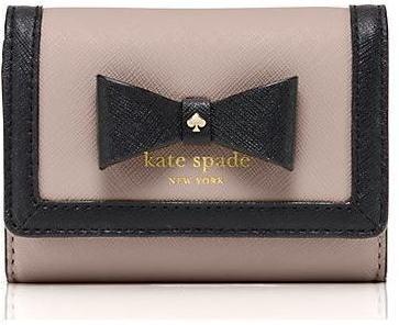 【正規品・送料無料】KATE SPADE ケイトスペード リボン コイン カードケース PWRU4474 ライトベージュ×ブラック