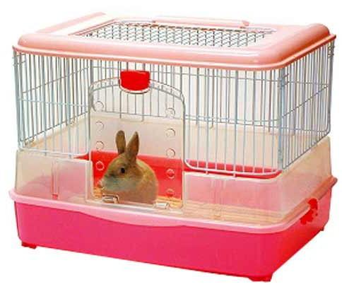 マルカン ラビットケージ 760 ピンク うさぎ用ケージ ウサギ用ケージ ゆったり広々タイプ 木製すのこ2枚付き フェレット モルモット チンチラ用ケージにもおすすめ!