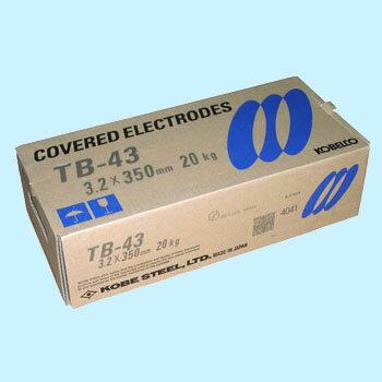 神戸製鋼 溶接棒 TB-43 3.2Φ 20Kg 1箱(5kg X 4箱入り) 写真は代表画像になります。...