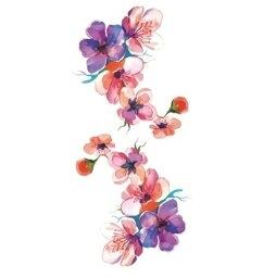 tuzuru タトゥーシール ステッカー ボディペイント tatoo 花 フラワー 防水 9×19cm 3枚セット おまけ付 送料無料 ポスト投函 C