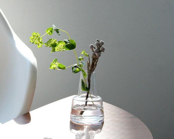 ホルムガード フローラ ベース 12cm ミディアム クリア Holmegaard Flora vase 【花瓶 マウスブロウ(手吹き) 一輪挿し フラワーベース ギフト 結婚祝い プレゼント 贈り物】