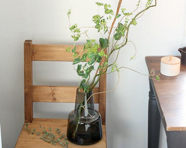 ホルムガード フローラ ベース 24cm ミディアム スモーク Holmegaard Flora vase 【花瓶 マウスブロウ(手吹き) フラワーベース】