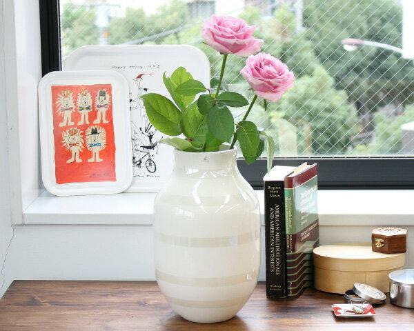ケーラー Kahler オマジオ ベース Lサイズ 305mm パール 【花瓶】