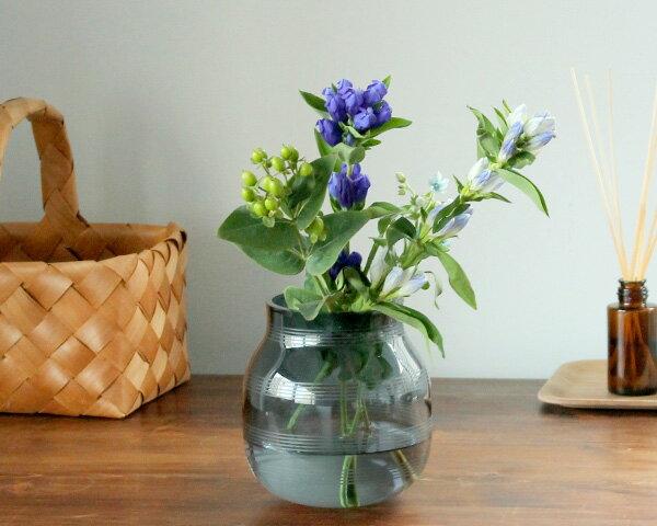【マラソン期間ならポイント5倍/要エントリー】ケーラー オマジオグラス ベース S 170mm スチールブルー Kahler Omaggio Glass 【花瓶】