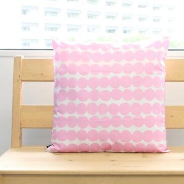 マリメッコ ラシィマット クッションカバー 50×50cm ホワイト/ピンク marimekko RASYMATTO [ネコポス対応可(2枚まで)] 【北欧 インテリア ギフト】
