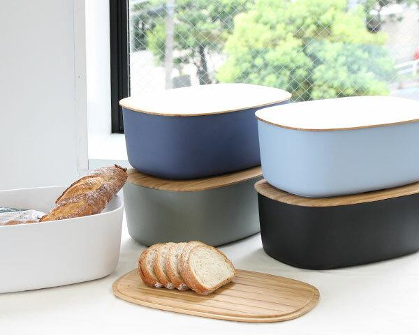 選べる5色 ステルトン RIG-TIG(リグティグ) ブレッドケース パンケース ブレッドボックス(ホワイト ブラック ブルー グレー ダークブルー) 保存容器 Z00038 6.8L 【パン】