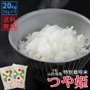 【白米】令和1年山形県産特別栽培米つや姫 20kg(5kg×...