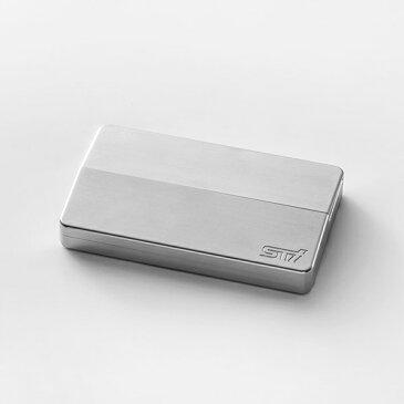 【STI-スバル】アルミ削りカードケース STSG16101230 【SaM】 SUBARU【コンビニ受取対応商品】