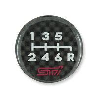 【STI-スバル】シフトパターンエンブレム6MT-B右下R(リバース)タイプ【SaM】