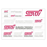 【STI-スバル】STI転写ステッカーデカール【SaM】